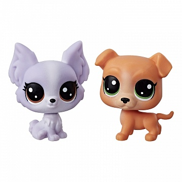 LITTLEST PET SHOP Frilly Lepapillon 1-123 + Pitley Bullbury 1-122. Набор из двух питомцев.