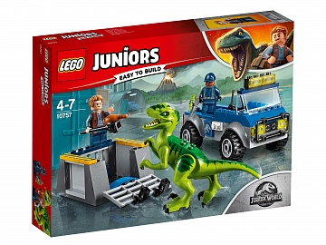 "Lego Juniors Jurassic World ""Грузовик спасателей для перевозки раптора 10757 Лего Джуниорс"